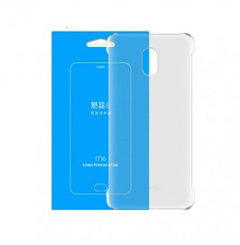 MEIZU Etui silikonowe + Folia do M6